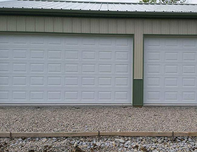 Double Car Garage Door with Single Car Garage Door