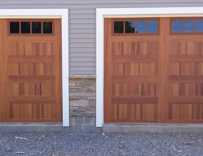 Faux Wooden Accent Garage Doors