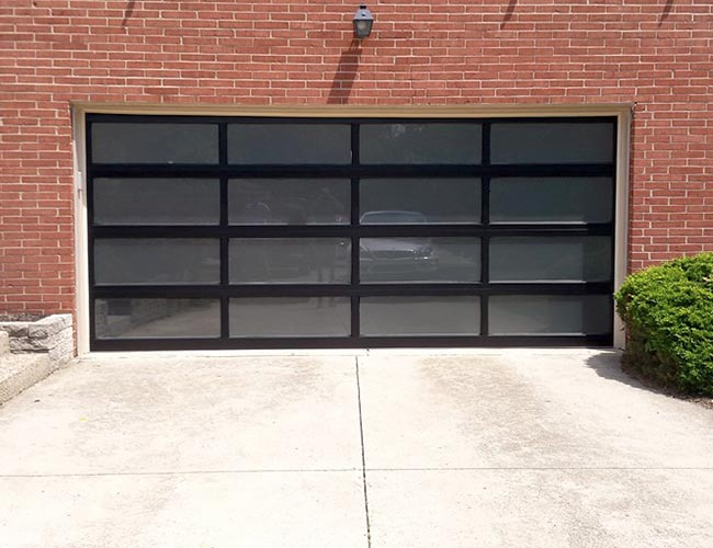 Custom Glass Panel Garage Door Installation