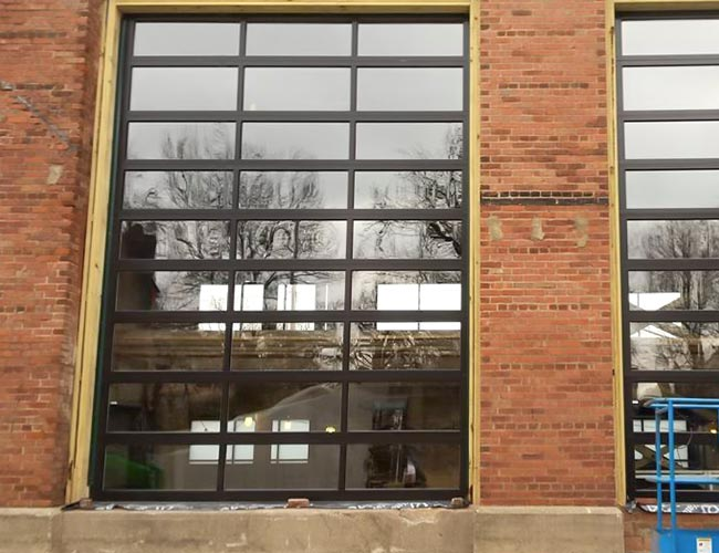 Large Commercial Glass Bay Doors
